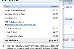 如何查看FBA商品的收费预览?