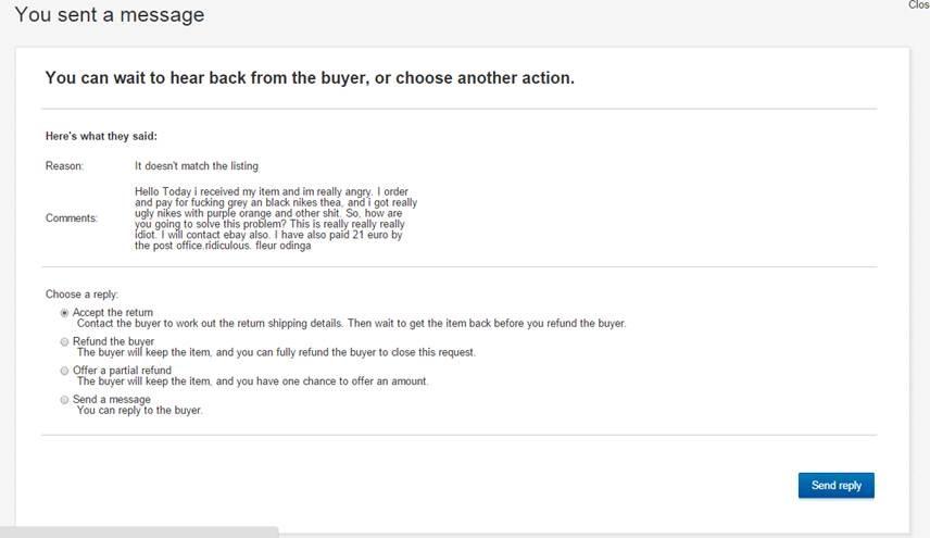 eBay跨国退货流程