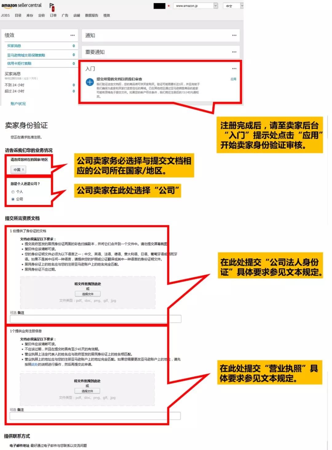 亚马逊日本站开店要求以及详细流程
